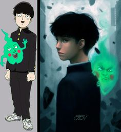 ArtStation - Shigeo and Dimple (MOB PSYCHO 100), Jose Dalisay