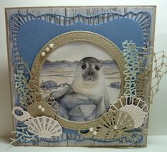 DutchPaperCrafts: Search results for marianne designs- sea dies Thank U Cards, 3d Cards, Beach Scrapbook Layouts, Scrapbooking Layouts, Marianne Design Cards, Nautical Cards, Beach Cards, Unique Cards, Animal Cards