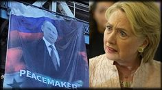 HILLARY HUMILIATED AS A MASSIVE IMAGE OF PUTIN JUST APPEARED BEFORE MILL...