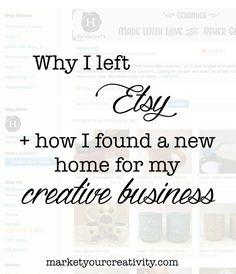 Why I Left Etsy: Hosting Alternatives - Marketing Creativity                                                                                                                                                                                 More