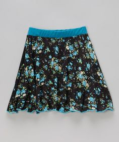 Look what I found on #zulily! Navy Floral Skirt - Toddler & Girls by ColorPop #zulilyfinds