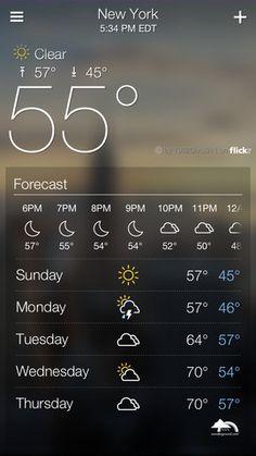 Yahoo Weather App for iPhone - Beautiful UI Mobile Ui Design, App Design, Flat Design, Ui Inspiration, User Interface Design, App Ui, Mobile App, Mobile Phones, Digital