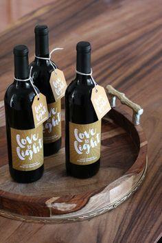 Customize Wine Bottles for an Easy Hanukkah Gift | Chai & Home