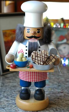 Pecan shortbread, served to you by this wonderful nutcracker!