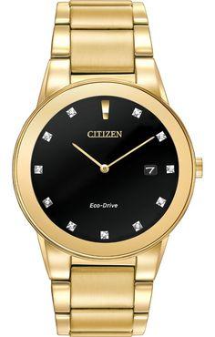 Men's watches : Citizen Men's AU1062-56G Axiom Analog Display Japanese Quartz Gold Watch