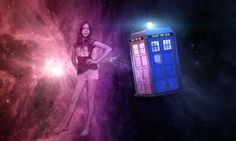 TARDIS and my Best friend, Photoshop Art.
