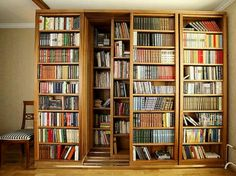 Moveable bookshelves