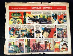 Batman Sunday Comic Strip Full Color 1966 August | eBay