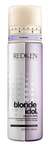 Redken Blonde Idol Custom-Tone Conditioner Violet for Cool Blondes with Kera-Bright System preserves tone and keeps your blonde brilliant between salon visits. Shades Of Brunette, Brunette Hair, Beige Blonde, Cool Blonde, New Hair Colors, Cool Hair Color, White Hair Toner, Redken Shampoo And Conditioner, Brassy Hair