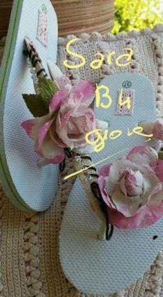 Ciabattine infradito modificate Flip Flops, Sandals, Etsy, Tricot, Fabrics, Shoes Sandals, Beach Sandals, Sandal, Slipper