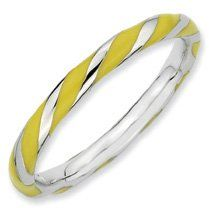 Sunrise Silver Twisted Yellow Enamel Stackable Ring. Sizes 5-10 Available Jewelry Pot. $22.99. Fabulous Promotions and Discounts!. All Genuine Diamonds, Gemstones, Materials, and Precious Metals. 100% Satisfaction Guarantee. Questions? Call 866-923-4446. Your item will be shipped the same or next weekday!. 30 Day Money Back Guarantee. Save 65% Off!
