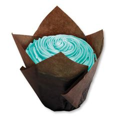 "Large Chocolate Tulip Cupcake Liners 2.25 x 2.75 x 4""  (4-5 oz.)"