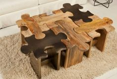 Chairs that are made to look like puzzles. And just like puzzles, these are made to fit together to create more space when placed together.