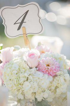 Real Weddings, Pink Weddings, Wedding Table Numbers, Bridal Flowers, Wedding Photos, Wedding Ideas, Flower Decorations, Event Design, Placecard Ideas