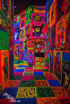 """""""Savage/Sacred Young Minds"""" exhibition at the Brooklyn Museum Bedroom Wall Collage, Photo Wall Collage, Picture Wall, Wall Art, Graffiti Bedroom, Rainbow Aesthetic, Aesthetic Indie, Purple Aesthetic, Trippy Wallpaper"""