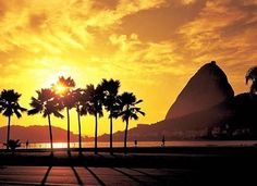 Sunset in Rio