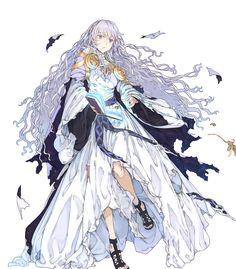 Deirdre: Lady of the Forest Anime Angel Girl, Girls Anime, Anime Art Girl, Female Character Design, Character Design References, Character Art, Pretty Anime Girl, Beautiful Anime Girl, Anime Witch