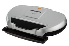 The George Foreman GR144 is a HUGE indoor electric grill for a SMALL price! If you're a fan of the George Foreman brand and you have a family to feed then this is an affordable grill to consider.