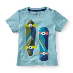Tea SS16 Ready to Roll Graphic Tee in mar - A pair of skateboards lends some sporty style to this graphic tee. - $22.50