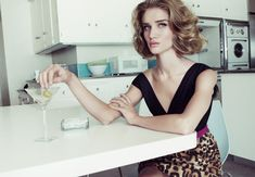 Valley of the Dolls – Rosie Huntington-Whiteley takes on a retro, sixties inspired look for the January edition of Harper's Bazaar UK. In front of Tom Munro's lens, the English beauty sports a wardrobe of feminine frocks and lightweight outerwear styled by Cathy Kasterine. Lush curls and pink lips bring the classic ensembles to pure perfection.