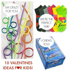 10 classroom Valentine ideas for kids paired with small treats! (Lots of non candy ideas!)