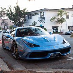 Ferrari 458 Speciale painted in Azzurro California   Photo taken by: @frantheman7 on Instagram