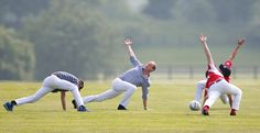 Prince William does yoga and Prince Harry photobombs a model at the Audi Polo Challenge charity event. Prince William And Harry, Prince Harry, Duke Of Cambridge, Charity Event, Polo Club, How To Do Yoga, British Royals, Horses, Celebrities