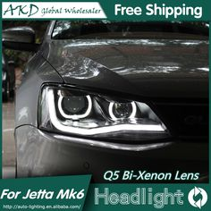 (477.75$)  Buy here  - AKD Car Styling for VW Jetta MK6 Headlights 2011-2015 Angel Eye LED Headlight DRL Bi Xenon Lens High Low Beam Parking Fog Lamp
