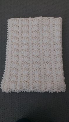 Check out Handmade Crochet Pure White Flower Petal Baby Blanket - Large on annakellycreations