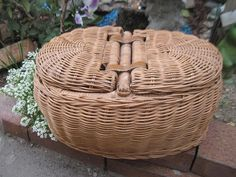 Double Sided Basket with double lids /Great by Daysgonebytreasures