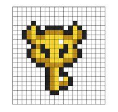 Instant Download - The Legend of Zelda Big Key Bead Sprite Pattern - Pattern only - Zelda Link Nintendo SNES Geekery Video Game Perler Hama