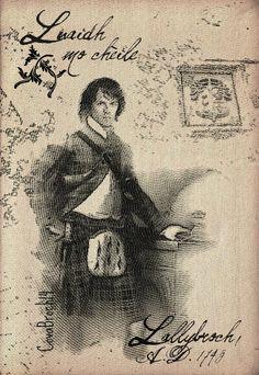 Serie Grabados. Jamie como el joven laird de Lallybroch. Engraving series. Jamie as Lallybroch's young Laird. @CovaBroch for Outlander gu Bràth