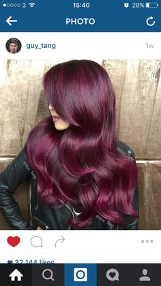 Guy tang Merlot hair