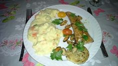 Duo Salmon & Codfisch with mashed carrots and patatoes