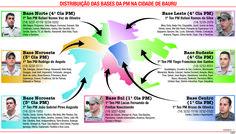 JuRehder - Infográfico sobre bases da PM, para JC Bauru/SP.