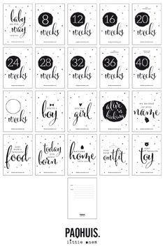 BABY COUNTDOWN CARDS by PAQHUIS.NL // also available for wholesale