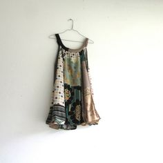 upcycled cotton and jersey dress / tunic - women's clothing / fashion / summer / handmade patchwork dress by CreoleSha on Etsy, $92.00