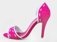 Manolo Blahnik Pink Party Sandals [20100198]