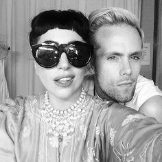 A-LIST FRAMES: #LadyGaga selfie with  #LeSpecs Neo noir #sunglasses. Click the look at #shadesoriginators.com #JustinTranter #SomePreciousWeapons