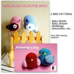 Amigurumi Valentine Bird and Birdie  PDF pattern