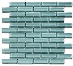 """Gray Sky 1"""" x 3"""" Grey Crystile Solids Glossy Glass - tile - Glass Tile Oasis"""
