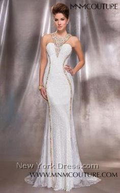 MNM Couture 9425 - NewYorkDress.com...great price...couture styled....but you need the body!!! Shine Bright in this exquisite eveing gown...with glittering crystals and rhinestone jewels...love it