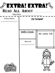 Cute- love the bulletin idea!  Newspaper Glyph {Get to Know You Activity & Bulletin Board Idea}