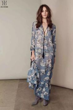 Aliexpress.com : Buy Blue Sexy Transparent Dress Loose Mermaid Floral Print Dress Long Tassel Rope Necklace Long Sleeve Women Maxi Dress Plus Size from Reliable necklace box suppliers on JYJ STUDIO | Alibaba Group