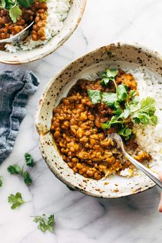 Instant Pot Red Curry Lentils - Pinch of Yum Red Curry Lentils, Lentil Curry, Slow Cooker Recipes, Cooking Recipes, Vegetarian Recipes, Healthy Recipes, Corn Recipes, Instant Pot Pressure Cooker, Dinner Recipes
