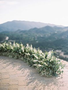 Could use greens and or grasses for a low altar // Rocky Oaks wedding by Kurt Boomer Photography.