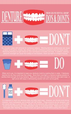 Learn Denture Do's and Don'ts! #granddentalgroup