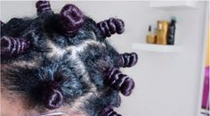 Get Perfect Curls With This Heat-less Bantu Knot On Dry Hair.