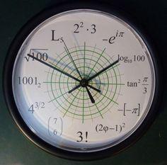 The clock of math. Math Clock, Clock Art, Diy Clock, Cnc, Computer Companies, Math Formulas, Math Projects, Digital Clocks, Geek Out