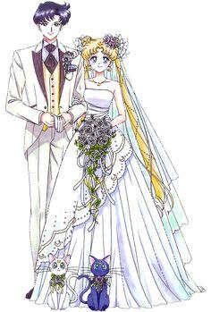 Usagi and Mamoru's romantic Wedding Day